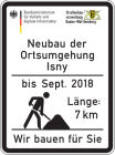 Construction project sign