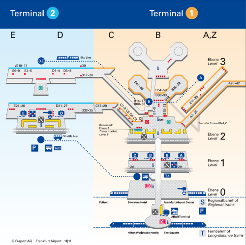 Frankfurt airport overview map