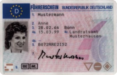 New-style German driver's license