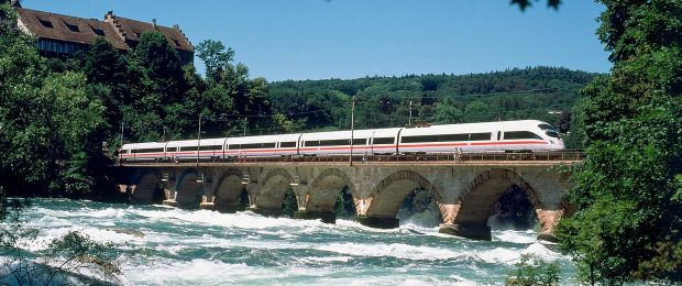 ICE train near the Rhine Falls